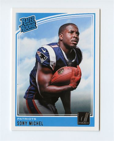 SONY MICHEL RC 2018 DONRUSS RATED ROOKIE #310 LOS ANGELES RAMS HOT