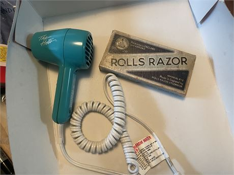 British Rolls Razor and Hots Blow Dryer