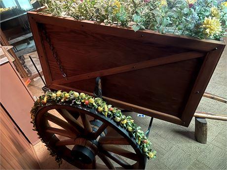 Vintage Amish made Wagon Wheels w/ Custom Bar