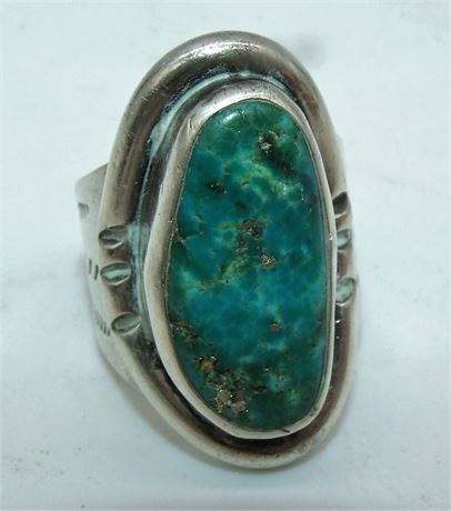 Sterling turquoise ring Large