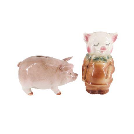 Ceramic Pig Coin Banks
