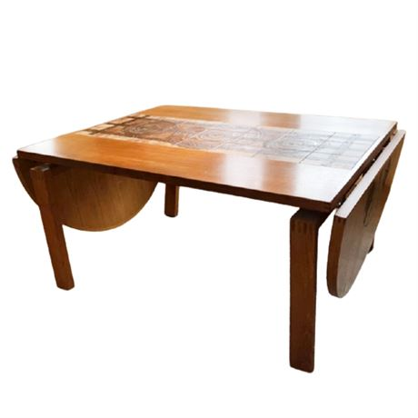 Ansager Moble Danish Ox-Art 77 Signed Drop Leaf Dining Table