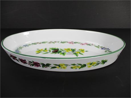 "Royal Worcester ""Worcester Herbs"" Large Oval Serving Bowl"