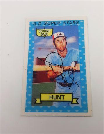 Ronald Hunt Montreal Expos #25 3D #54 Signed Baseball Card