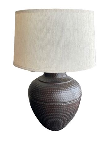 Pair of Hammered Metal Table Lamps