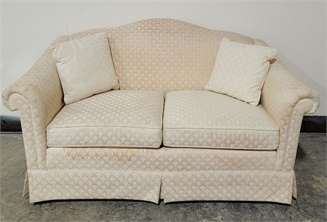 Nice cream color Loveseat - matches Lot 9