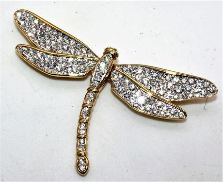 Swarovski crystal dragonfly pin