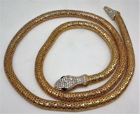 "42"" snake necklace mesh"