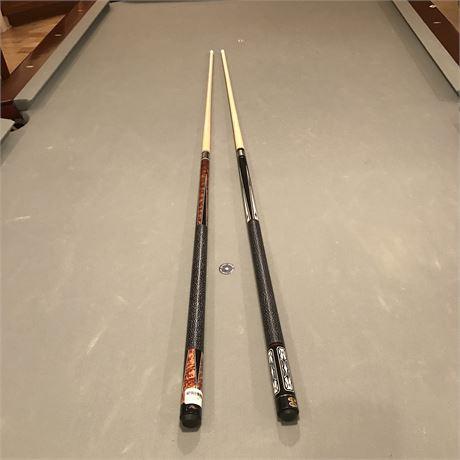 Players & Cuetec Professional Pool Cues - Set of 2