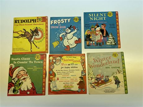 Old 45 Children's Christmas Records