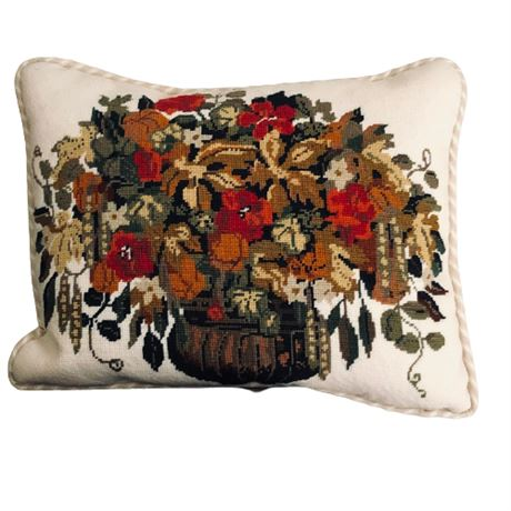 Hand Crafted Needlepoint Pillow