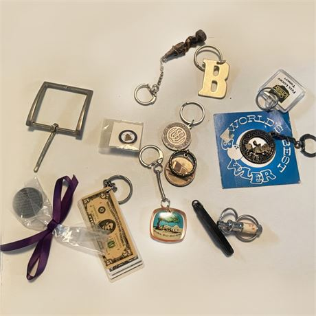 Mixed Vintage Key Chains
