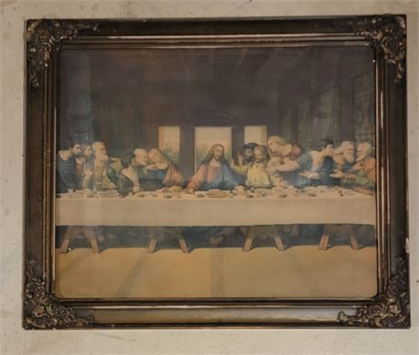 Nice framed picture of The Last Supper