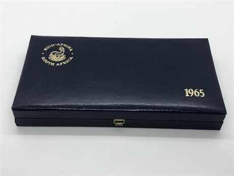 Silver 1965 South Africa 7 Coin Proof Set With Silver 1 Rand