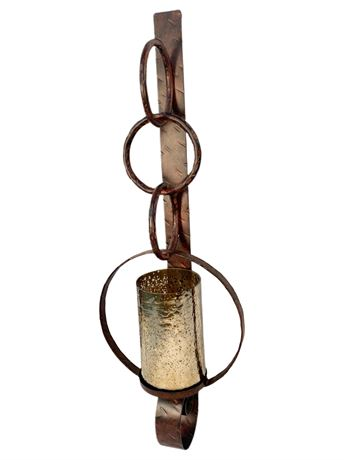 3.5' Metalwork Wall Sconce