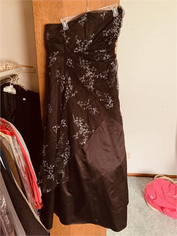 Black Gown with Silver Beading size10