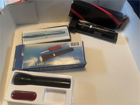 Pen and Flashlights