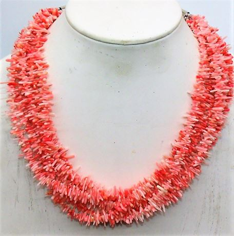 Jay King Sterling Coral necklace