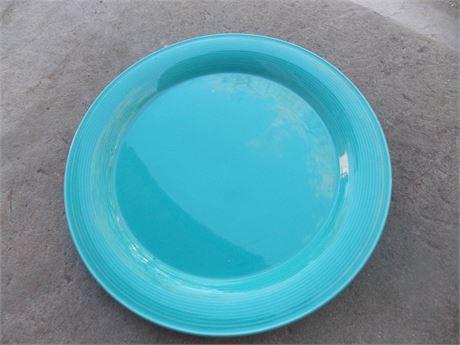"Vintage Nancy Calhoun Dark Aqua stoneware - 12"" platter"
