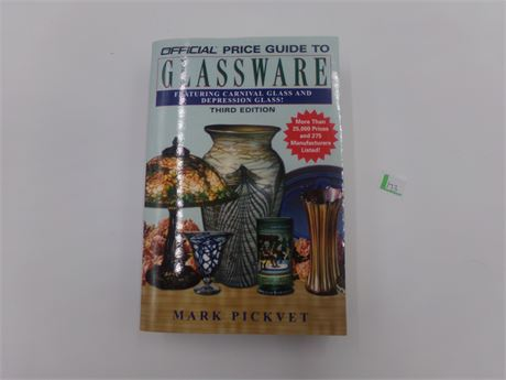 Official Price Guide to Glassware Book