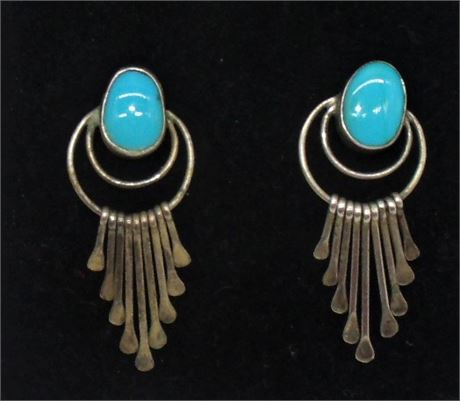 Native Indian A Largo turquoise earrings