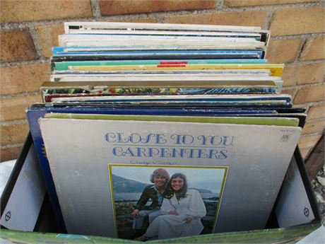 Box Lot of Record Albums