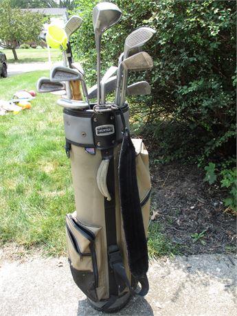 Golf Clubs & Hunter Bag