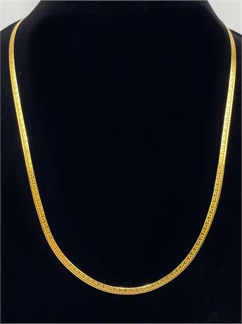 Sterling Silver Necklace W/Gold plating