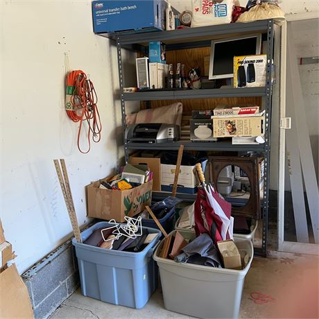 Large Household Buy Out Lot & Shelving Unit
