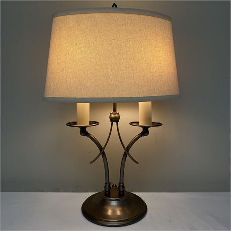 Table lamp with dimmer and shade