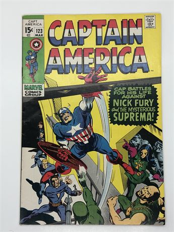 15C Captain America #123 Comic Book