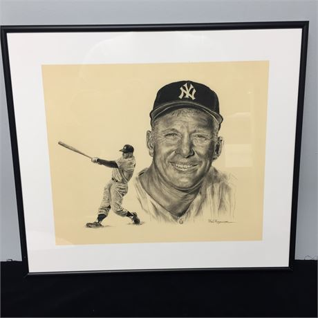Pencil Drawing of Mickey Mantle