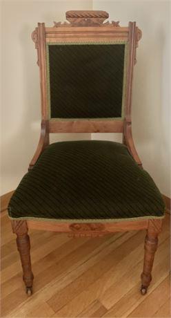 East Lake side chair carved wood