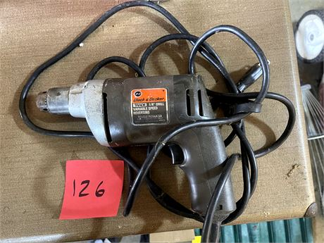 Corded Black and Decker Drill