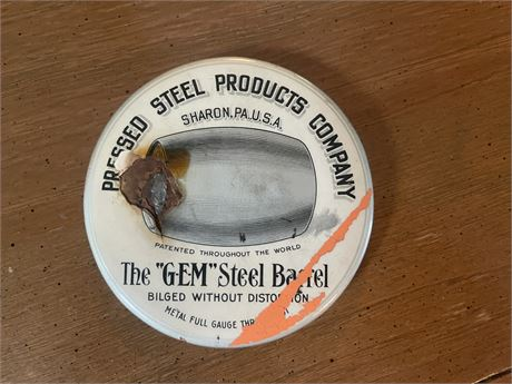 """""""Pressed Steel"""" Products Company Disk"""