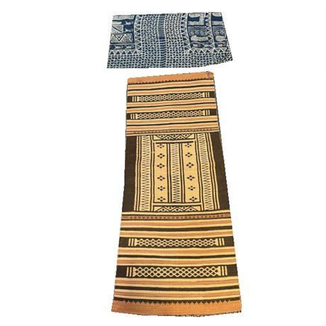 Group of African Batik Loincloth and Rug