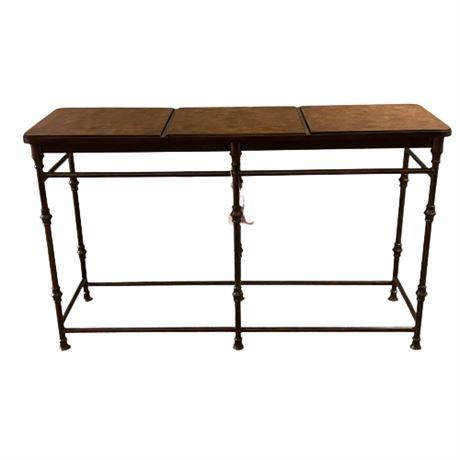 Flexsteel Iron & Tile Console Table