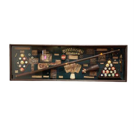 Custom Made Billiards Themed Shadow Box