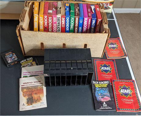 Atari Games, Booklets, Catalogs, Game Holder