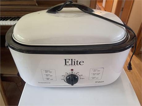 Elite 18 Quart Roaster with Contents