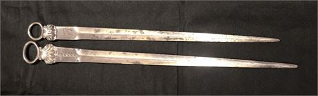 Pair of Silver Letter Openers