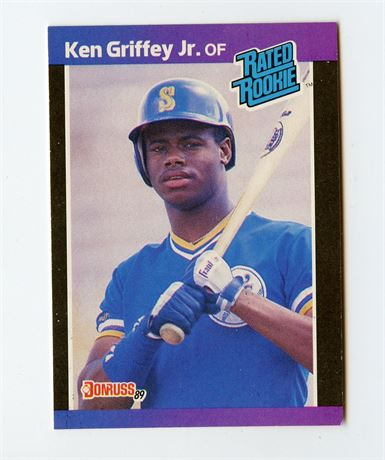 KEN GRIFFEY JR RC 1989 DONRUSS RATED ROOKIE #33 SEATTLE MARINERS