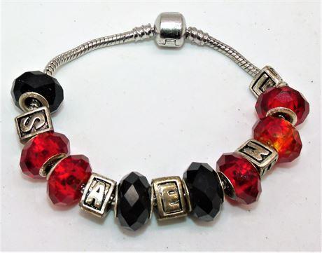 Charm bracelet sterling sliders