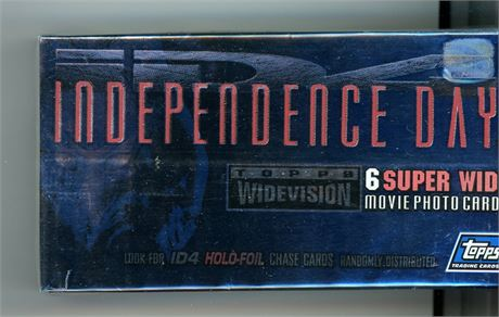 TOPPS INDEPENDENCE DAY WIDEVISION 1996 72 CARD SET - WILL SMITH