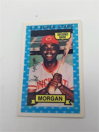 Joe Morgan Cincinnati Reds #36 3D Super Star Signed Baseball Card