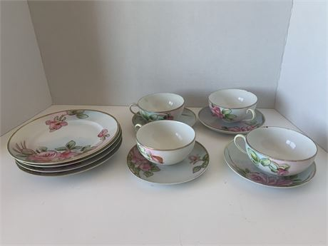 Nippon Handpainted Plates and tea cups