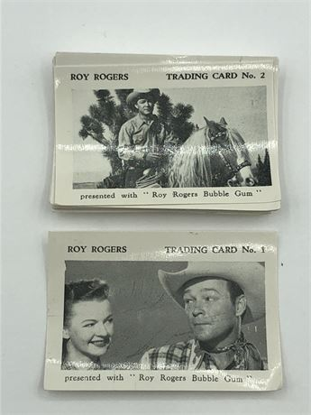 1955 Roy Rogers Bubble Gum Trading Card Set Roy Rogers Photo card Lot