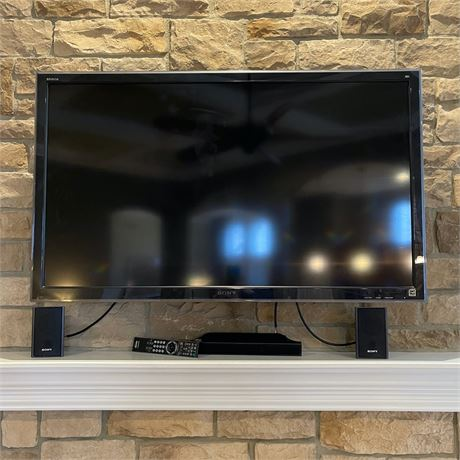 "Sony Bravia LCD 52"" Television & Sony Sound System"