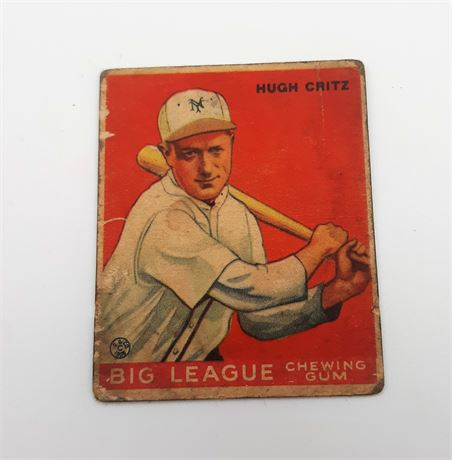 1933 Goudey Hugh Critz New York Giants #3 Baseball Card