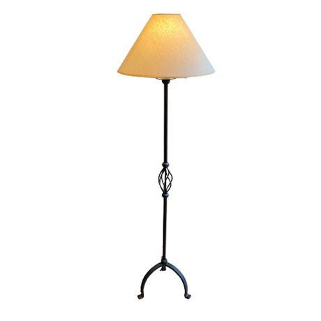 Twist Basket Black Floor Lamp